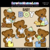 Tibbles The Baby Bear ClipArt Collection