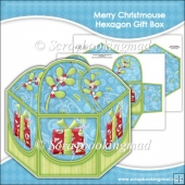Merry Christmouse Hexagon Gift Box