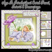 Age Is Irrelephant Decoupage Card Front & Insert