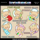Oval Bears Pre School 1 ClipArt Graphic Collection