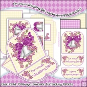 On Your Wedding Day, Happy Anniversary JPEG Easel Card Download