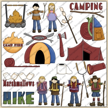 Camping & Hiking ClipArt Graphic Collection