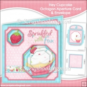 Hey Cupcake Octagon Aperture Card