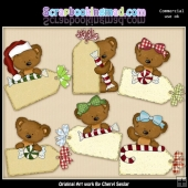 Tibbles Christmas Tags ClipArt Collection
