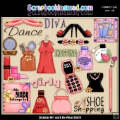 All About The Girls Clipart Graphics Download