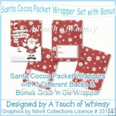 Santa Cocoa Packets & Matching Cup Wrapper