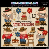 Cowboy Birthday ClipArt Collection