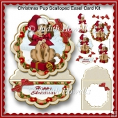 Christmas Pup Scalloped Easel Card Kit