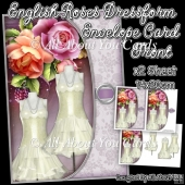 English Roses Dressform Envelope Card Front