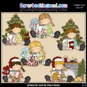 Bridgets Christmas Morning ClipArt Collection