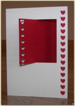 Square Cantilever Heart Card - Craft Robo GSD File