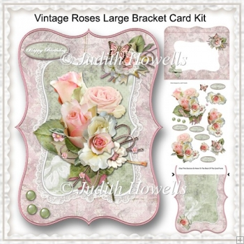 Vintage Roses Large Bracket Card Kit