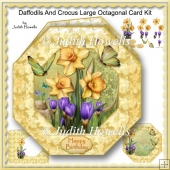 Daffodils And Crocus Large Octagonal Card Kit