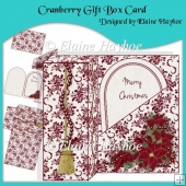 Cranberry Gift Box Card