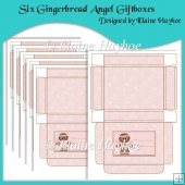 Six Gingerbread Angel Giftboxes