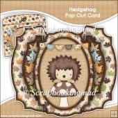 Hedgehog Double Pop Out Card & Envelope