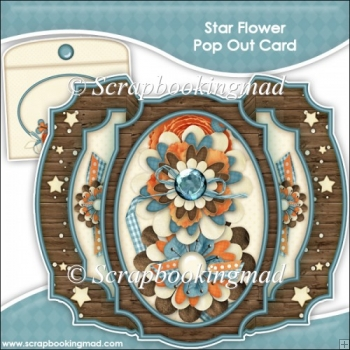 Star Flower Double Pop Out Card & Envelope