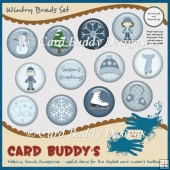 Wintry Brads Set – CU/PU