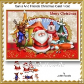 Santa And Friends Christmas Card Front