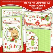 Ho Ho Ho Christmas 2 Money Card & Envelope