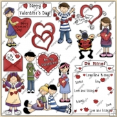 Valentines Day ClipArt Graphic Collection