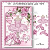 Pink Tutu And Ballet Slippers Card Front