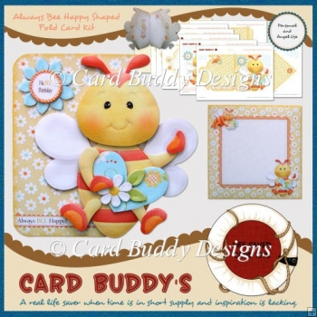 Always Bee Happy Shaped Fold Card Kit