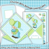 Country Boys Birthday Spring Card PDF Download