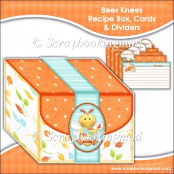 Bees Knees Recipe Box, Cards & Dividers