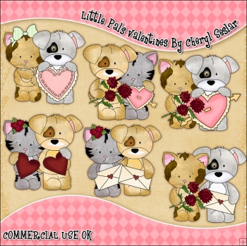 Little Pals Valentines ClipArt Graphic Collection