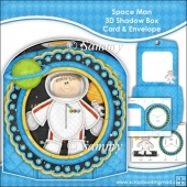 Space Man 3D Shadow Box Card & Envelope