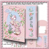 Little Bonnet Girls Asymmetric Fold Card Kit