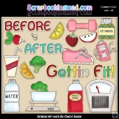 Getting Fit ClipArt Collection
