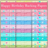 36 Happy Birthday Backing Papers Download (C236)