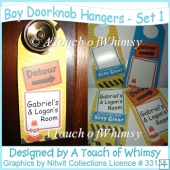 Boy's Doorknob Hangers - Set 1
