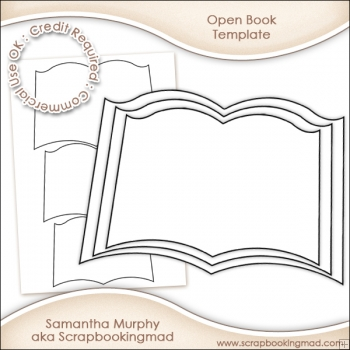 open book template commercial use ok 3 00 scrapbookingmad com