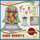 Christmas Bells Bell Shaped Easel Card Kit