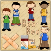 Little Boo Boo ClipArt Graphic Collection