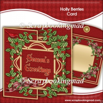 Holly Berries Card Kit