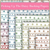 10 Picking Up The Daisys Backing Papers Download (C185)