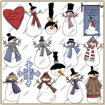 Winter Time ClipArt Graphic Collection