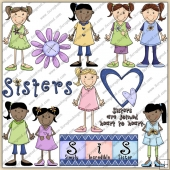 Sisters ClipArt Graphic Collection