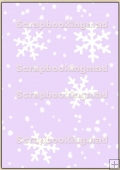 Backing Papers Single - Lilac Snow Flakes - REF_BP_11