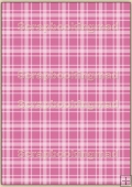 A4 Backing Papers Single - Pink Gingham - REF_BP_134