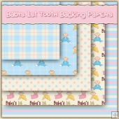 5 Baby's 1st Tooth Backing Papers Download (C245)