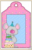 Sweet Birthday Treats Gift Tag - REF_T628