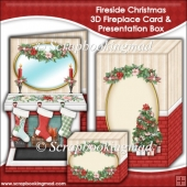 Fireside Christmas 3D Fireplace Card & Presentation Box
