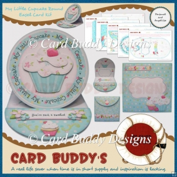 My Little Cupcake Round Easel Card Kit