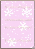 Backing Papers Single - Pink Snow Flakes - REF_BP_10
