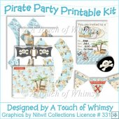 A4 Printable Pirate Party Kit